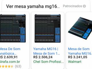 Mesa 16 Canais Yamaha Mg166cx Com Cubase