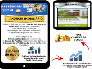 Assessoria Seo Anúncio Imobiliário /+ Chances De Vender