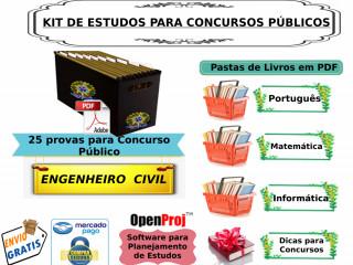Kit De Apoio Para Concurso Público Engenheiro Civil