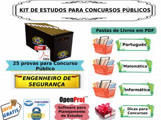 Kit De Apoio Para Concurso Público Engenheiro De Segurança
