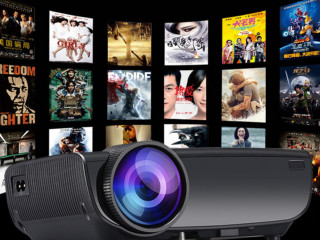 Projetor Smart 2200 Lumens, wi-fi, Android, com Netflix, YouTube